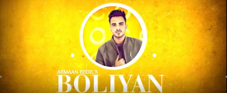 Boliyan lyrics by Armaan Bedil