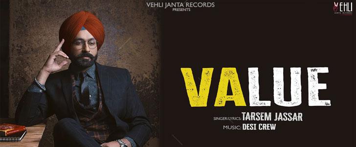 Value lyrics by Tarsem Jassar