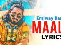 Maalik Lyrics by Emiway