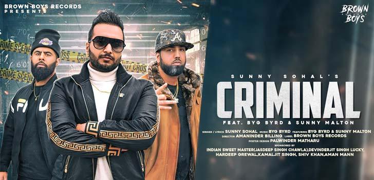 Criminal Lyrics by Sunny Sohal