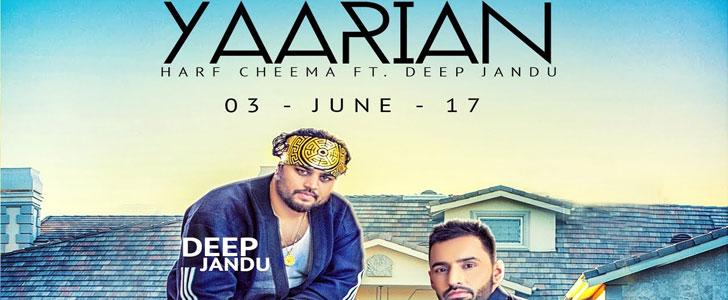 Yaariyan lyrics by Harf Cheema