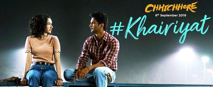 Khairiyat lyrics from Chhichhore