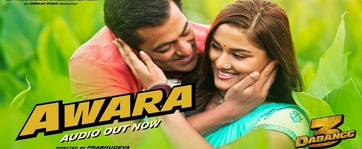 Awara lyrics from Dabangg 3