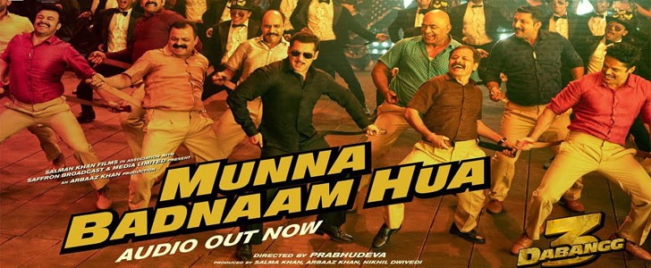 Munna Badnaam Hua lyrics from Dabangg 3