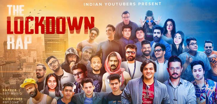 The Lockdown Rap Lyrics by Indian Youtubers SSD Music