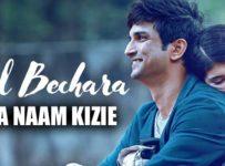 Mera Naam Kizie Lyrics from Dil Bechara