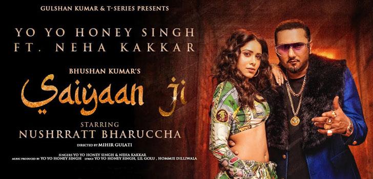 Saiyaan Ji Lyrics by Yo Yo Honey Singh and Neha Kakkar