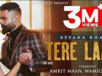 Tere Laare Lyrics by Afsana Khan ft Amrit Maan